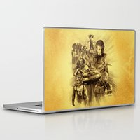 mad max Laptop & iPad Skins featuring Homage to Mad Max by Giorgio Finamore