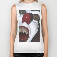 pennywise Biker Tanks featuring Pennywise by Kristen Champion