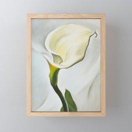 Calla Lily Turned Away by Georgia O'Keeffe, 1923 Framed Mini Art Print
