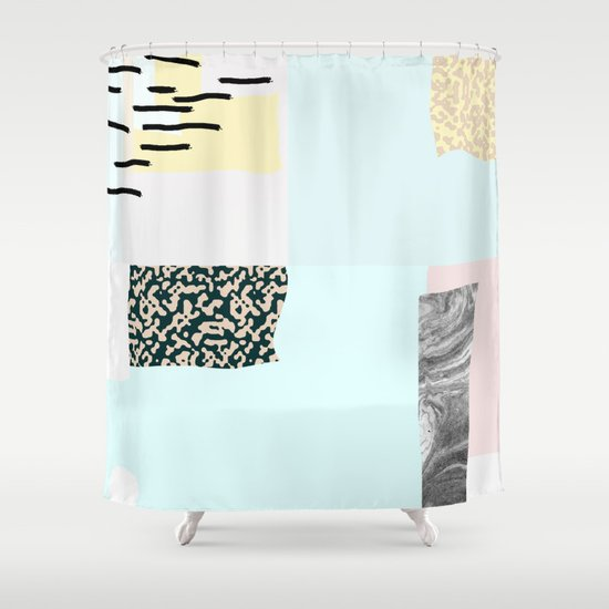 On the wall#4 Shower Curtain