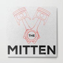 Heart the Mitten Metal Print