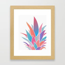 Pineapple Top Framed Art Print