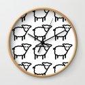 Cute Transparent Sheep Flock in Rows Monotone Light by tinystaramerica