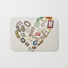 Vintage with a Smile - English Vintage Buckles 1900's Bath Mat