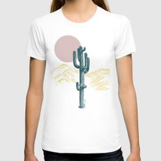 hace calor? X-LARGE White Womens Fitted Tee