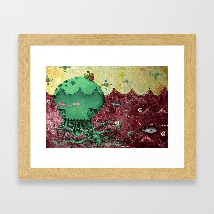 Jellyfish Couple Framed Art Print