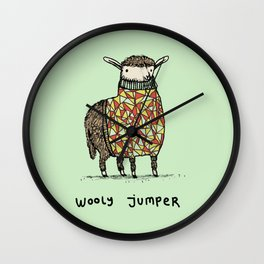 Wooly Jumper Wall Clock