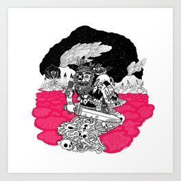 The Taxidermist Art Print