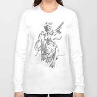 western Long Sleeve T-shirts featuring western rat by kasowy