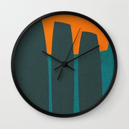 Indigenous Peoples in Easter Island Wall Clock