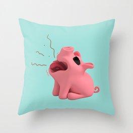 Rosa the Pig Burps Throw Pillow