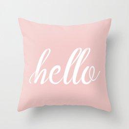 Hello, I am Dog Throw Pillow