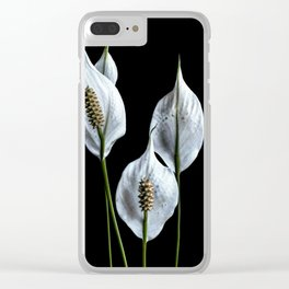 Peace Lilies Clear iPhone Case