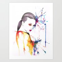 beth hoeckel Art Prints featuring Beth by Amy Jane Eaton