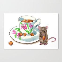 Acorn Teacup Canvas Print