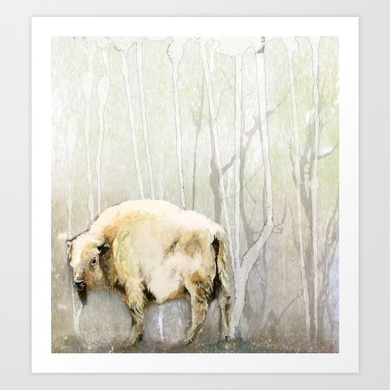 White Buffalo's Hollow Art Print