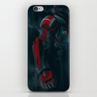 n7 iPhone & iPod Skins featuring N7 by crimm-art