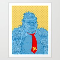 donkey kong Art Prints featuring Donkey Kong by Ismael Álvarez