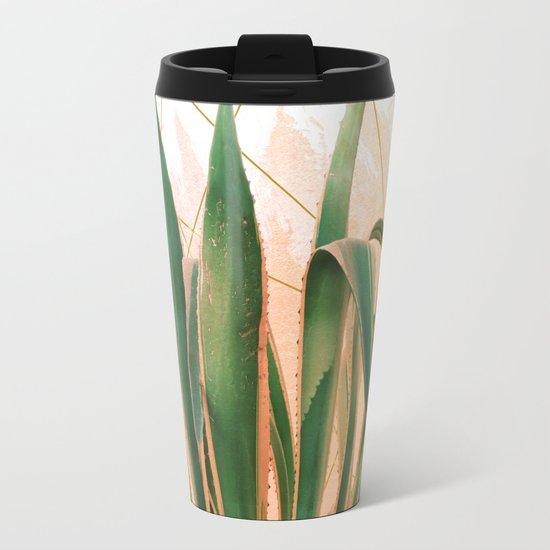 Cactus with geometric Travel Mug