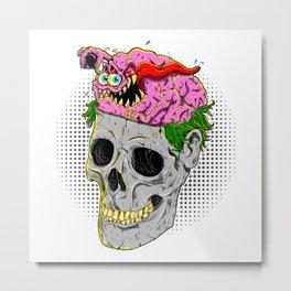 Brain Control Metal Print