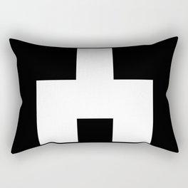 The Baxter's balaclava glyph on Black Mirror Rectangular Pillow