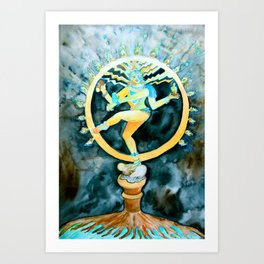 Nataraja, The Cosmic Dancer Art Print