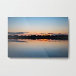 Sunset Over Lake 4 Metal Print