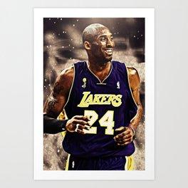K.B King of  Basketball Art Print02 Art Print