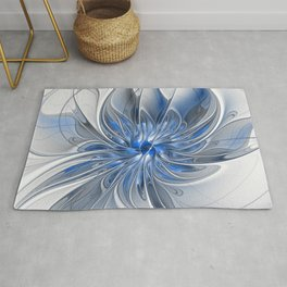 Abstract Art with Blue Rug