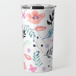 Sweet Floral Watercolor Travel Mug