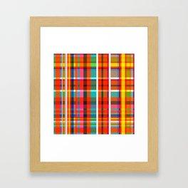 Madras Bright Check Framed Art Print