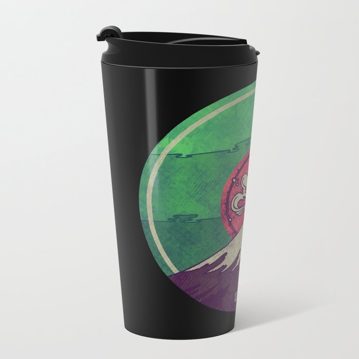 Mt. Fuji Metal Travel Mug