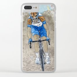 Ryder Hesjedal In Tour De France Clear iPhone Case