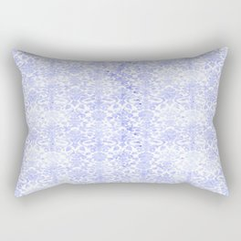 Periwinkle Damask Rectangular Pillow