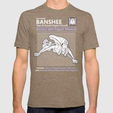 Banshee Service and Repair Manual Mens Fitted Tee Tri-Coffee SMALL