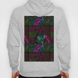 Asian Bamboo Garden in Black Velvet Watercolor Hoody