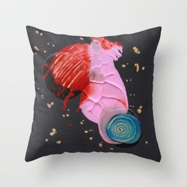 squished snail Throw Pillow