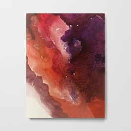 Starlight [3]: a pretty abstract watercolor piece in reds and purples by Alyssa Hamilton Art Metal Print