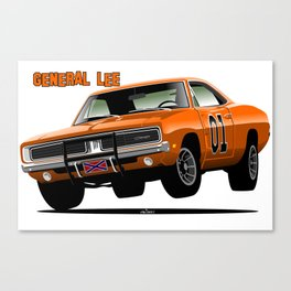 General Lee Dodge Charger Canvas Print
