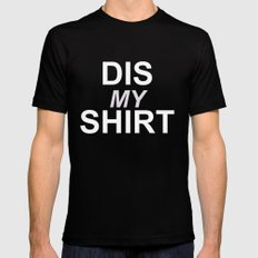 Dis My Clothing Line Mens Fitted Tee MEDIUM Black