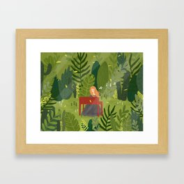 Melody and Forest Framed Art Print