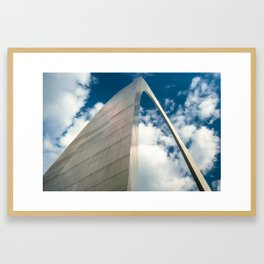 Saint Louis Gateway Arch and Puffy Clouds - High Dynamic Range Framed Art Print