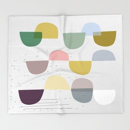Mid century temporary art VIII Throw Blanket