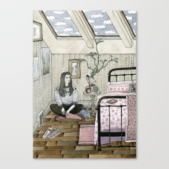 Girls bedroom Canvas Print