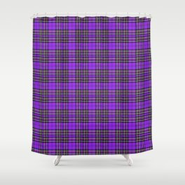 Lunchbox Purple Plaid Shower Curtain
