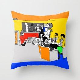 OFFICE MEETING Throw Pillow