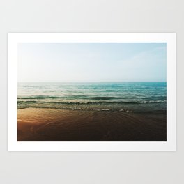 Vivid Morning Waves Art Print