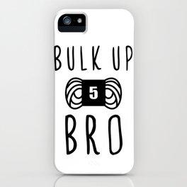 bulk up bro funny yarn knit crochet iPhone Case