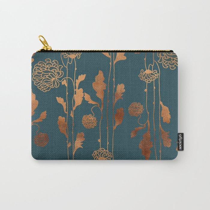 Art Deco Copper Flowers  Tasche