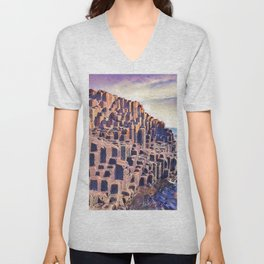 Giant's Causeway Natural Parallelepipeds Random Creation Stairs Beach Unisex V-Neck